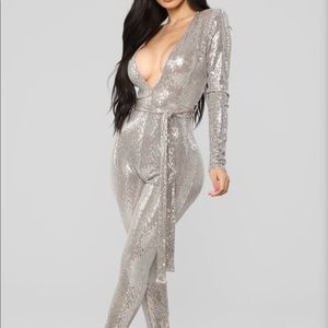 Don't stop the party sequin jumpsuit